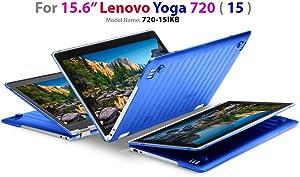 """mCover Hard Shell Case for 15.6"""" Lenovo Yoga 720 (15) Laptop (Blue)"""