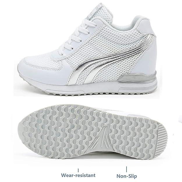 LILY999 Scarpe Donna Sneakers Zeppa Interna Scarpe da Ginnastica Sportive Fitness  Basse Interior Casual all Aperto  Amazon.it  Scarpe e borse 2789ffb3b57
