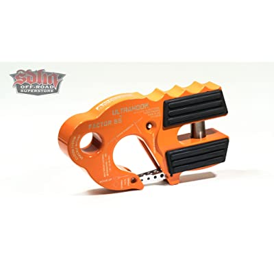 Factor 55 UltraHook Winch Hook with Shackle Mount - Orange: Automotive