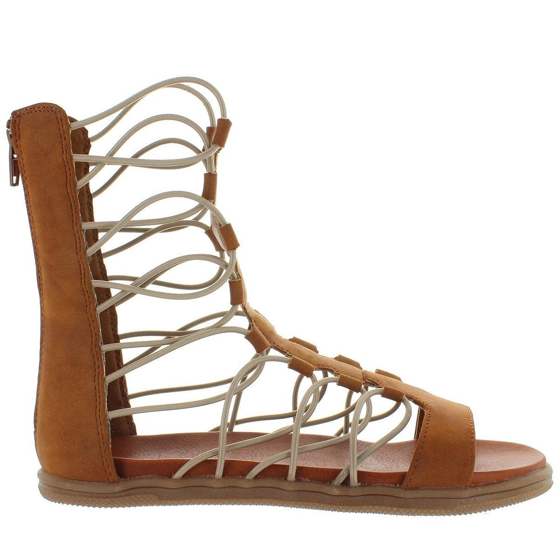 Elly - Luggage Nubuck Flat Gladiator Sandal