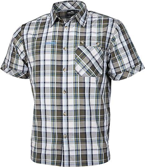 High Colorado celdas de m camisa de cuadros para hombre, color caqui, tamaño large: Amazon.es: Deportes y aire libre