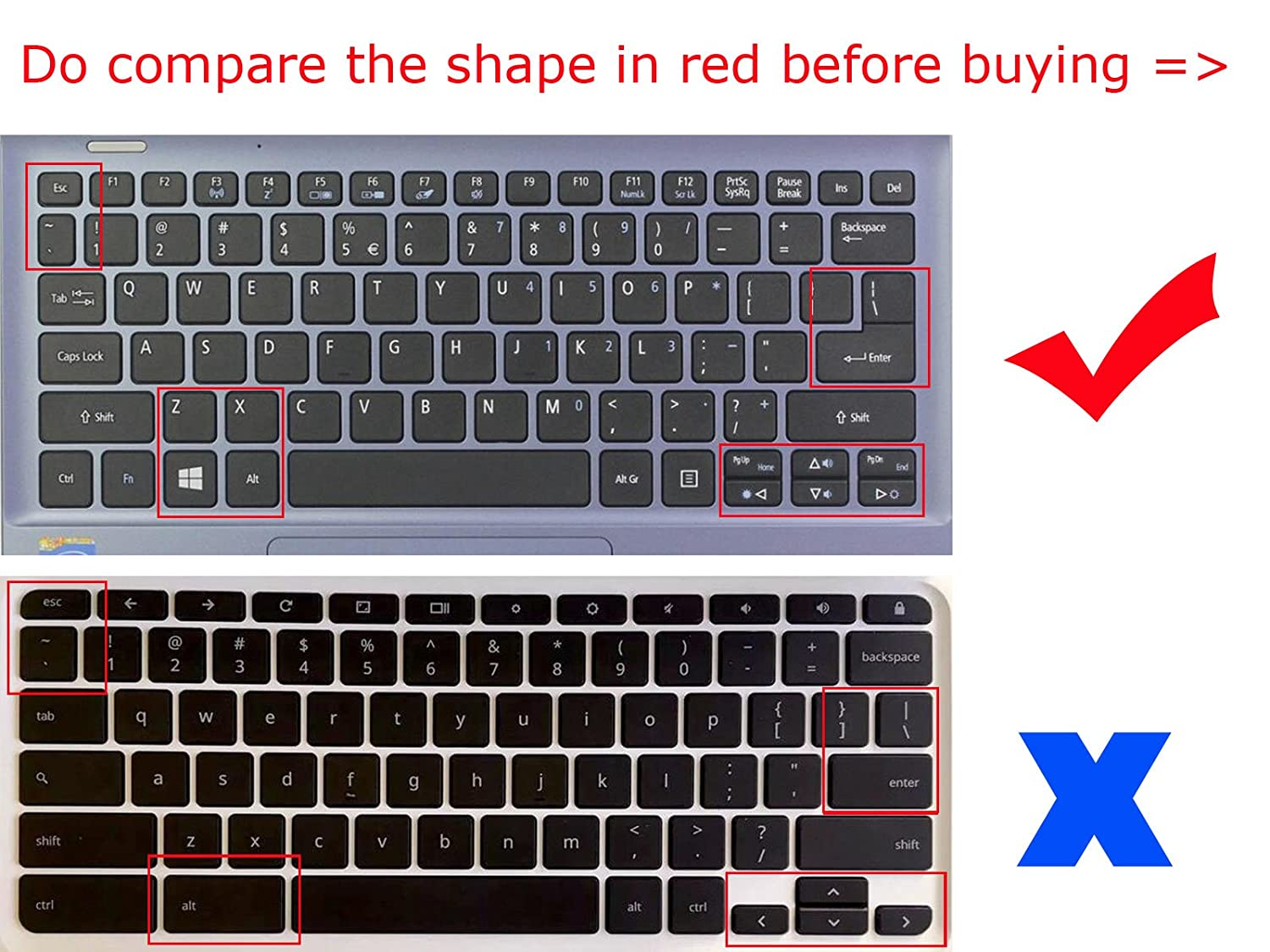 Amazon.com: BingoBuy US Layout Silicone Keyboard Protector Cover Skin for ACER aspire V3-372T, R 11(R3-131T), Switch 11(SW5-171), Switch 11 V(SW5-173) ...