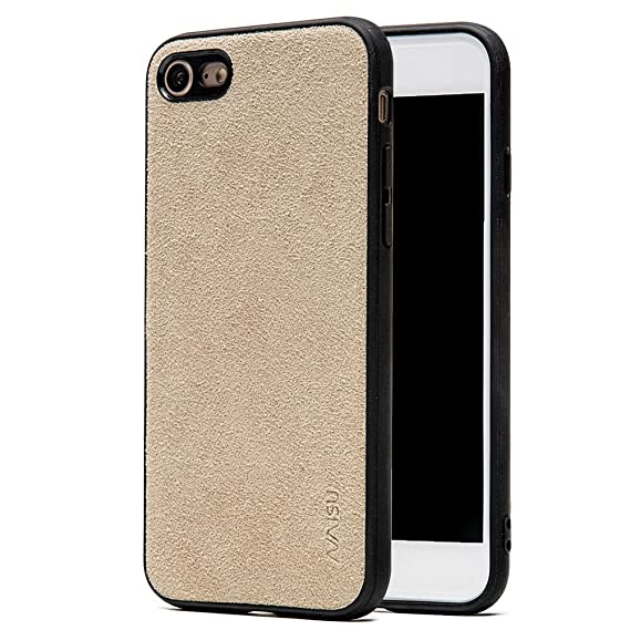 buy popular 621aa 2f397 Amazon.com: NAISU iPhone 7/8 Case, Luxury Slim Alcantara ...
