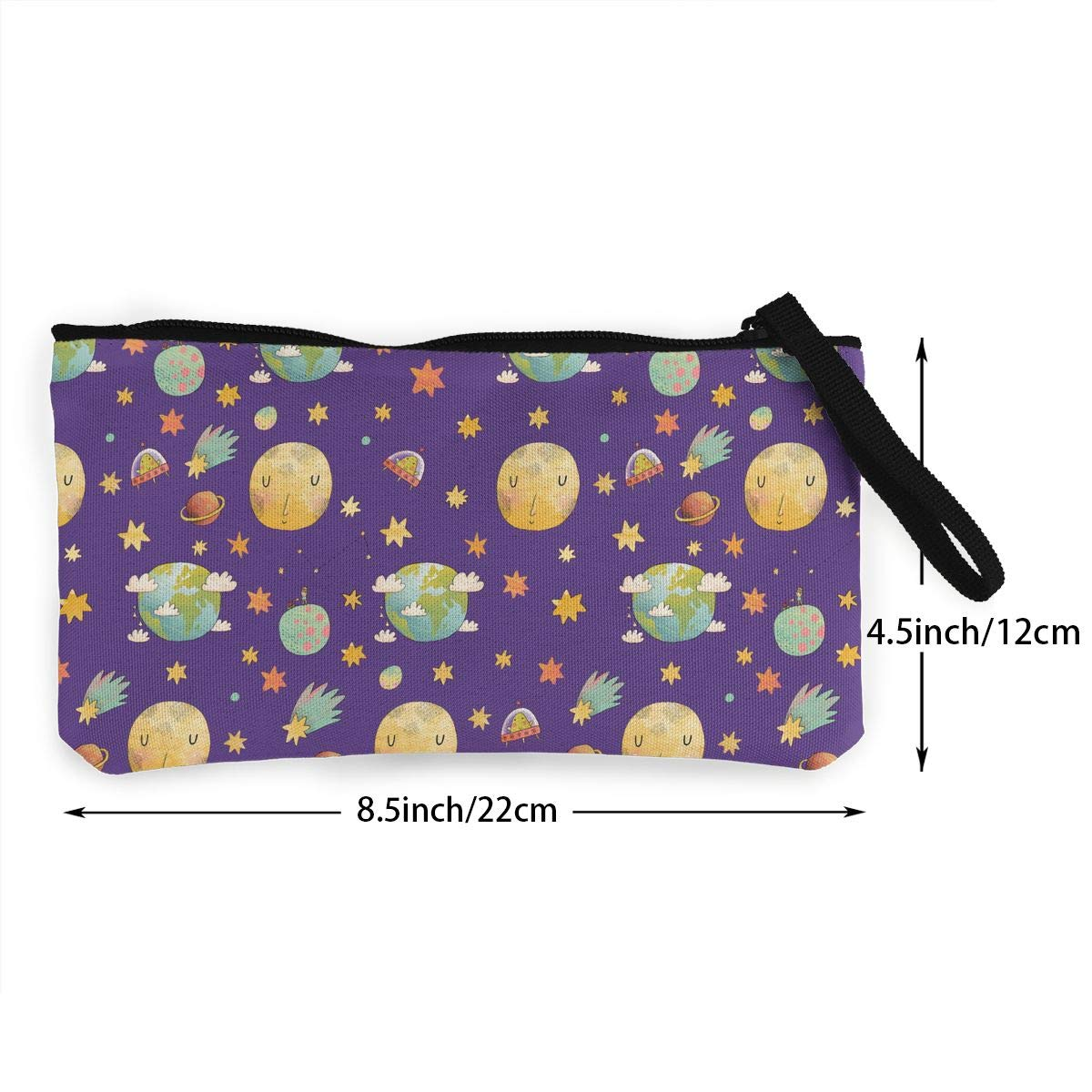 Awesome Cosmic Pattern Canvas Makeup Bag with Zipper for Women Bk55Oi/&/& Womens Vintage Coin Purse