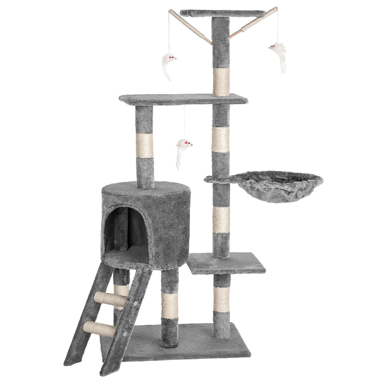 TecTake Arbre à Chat Griffoir Grattoir gris