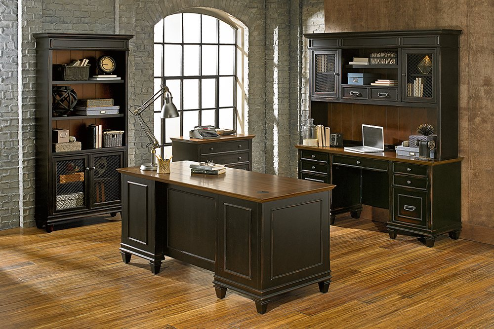Martin Furniture Hartford Hutch, Brown - Fully Assembled by Martin Furniture (Image #1)