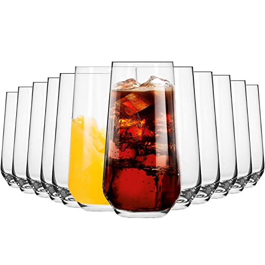 Conjunto de 6 Piezas Krosno Vasos de Agua Jugo Blended Collection Uso en Casa Apto para Microondas y Lavavajillas Restaurante y en Fiestas 350 ML