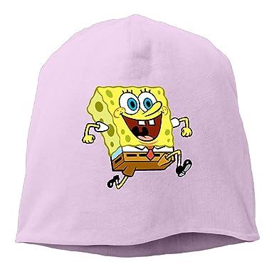 9382a2117a977 Amazon.com  Happy Spongebob Running Men Women Daily Beanie Hat ...