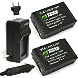 Wasabi Power Battery (2-Pack) and Charger for Canon LP-E17 and Canon EOS 77D, EOS 750D, EOS 760D, EOS 8000D, EOS M3, EOS M5, EOS M6, EOS Rebel T6i, EOS Rebel T6s, EOS Rebel T7i, Kiss X8i
