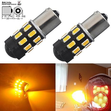 JDM ASTAR Super brillante 5730 chipsets 7507 1156py BAU15S LED bombillas con proyector, ámbar amarillo