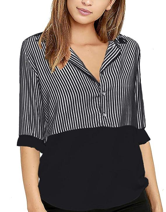 Amazon.com: Pame - Blusa de manga larga para mujer, camiseta ...