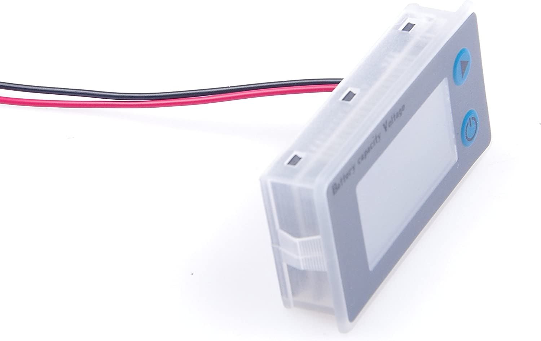 KNACRO DC 10-100V 12V 60V 72V 96v 48V 24V 100v LCD Lead-acid Battery Capacity Tester Gauge Panel Battery Statue Indicator Monitor Electric Quantity Detector Reader 36V DEFAULT