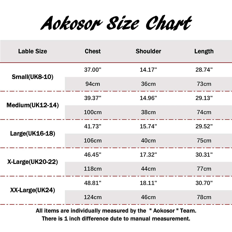 Aokosor Womens Long Sleeve Casual Round Neck Sweatshirts Loose Tunics Tops with Pockets