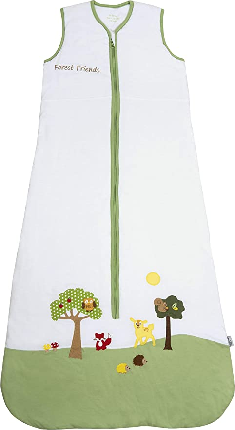 BABY BONITO® Cream Sleeping Bag I/'m Your Star Design 2.5 Tog Side Zip /& Poppers