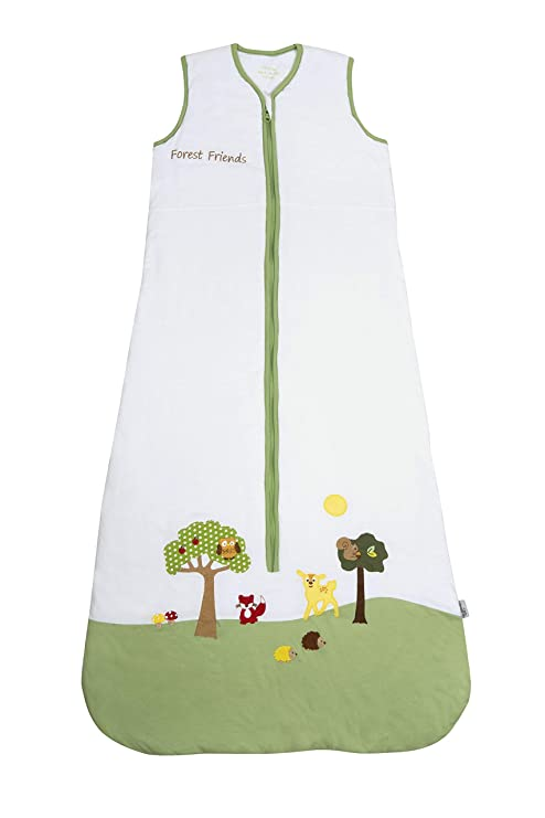 18-36 months//110cm Slumbersac Summer Toddler Sleeping Bag 1 Tog Forest Friends