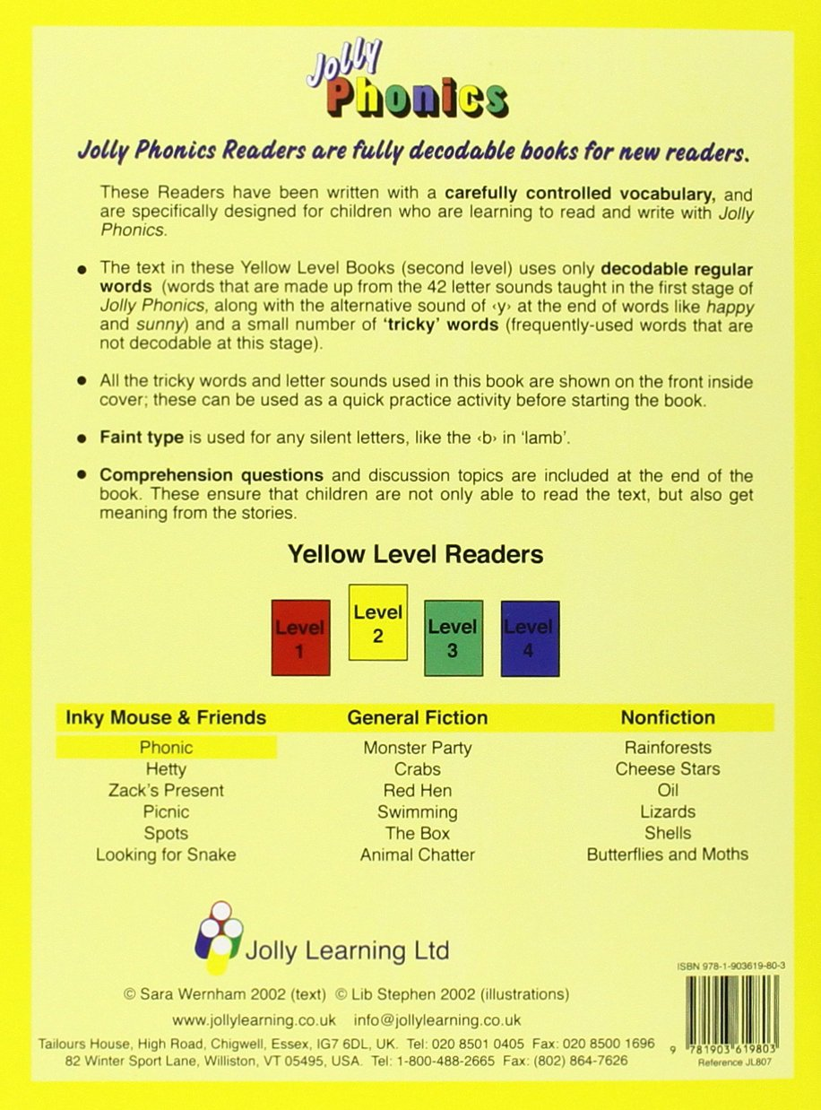Workbooks jolly phonics workbook 1 free download : Jolly Readers Yellow Level (Level 2) - Complete Set of 18 books ...