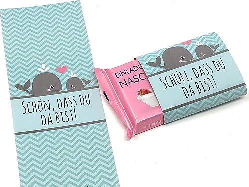 Schokoladenbanderolen Gastgeschenk Zur Taufe Kommunion
