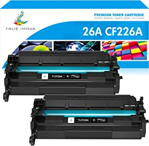 True Image Compatible Toner Cartridge Replacement for HP 26A CF226A 26X CF226X Laserjet Pro M402n M402dn M426 M402d M402dw Laser Jet MFP M426fdw M426fdn M402 M426dw Printer Ink (Black, 2-Pack)