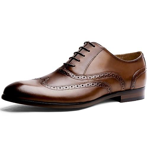 108a7069e3 Desai Zapato Brogue con Cordones Oxford para Hombre Negro Marrón   Amazon.es  Zapatos y complementos