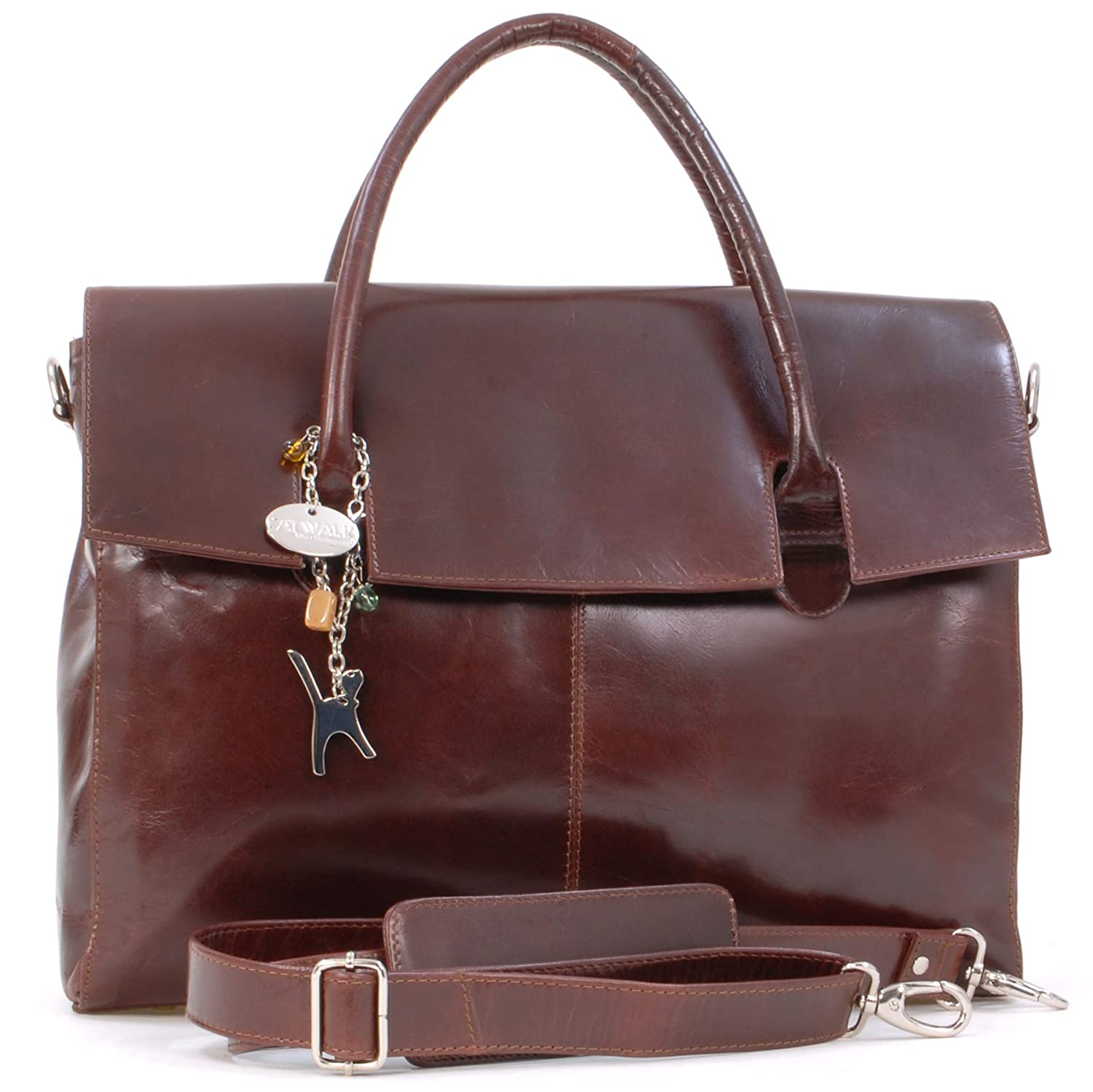 Catwalk Collection Over-Sized Laptop Bag - Vintage Leather - Helena   Amazon.co.uk  Shoes   Bags 28cd99ad20ba9