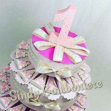 Bonboniere Erster Geburtstag Madchen Kuchen Schleife Pink Madchen