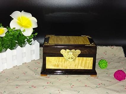 GFEI Phoebe pequeño espejo caja joyeria fina caja de madera manualidades adornos decorativos de alta calidad