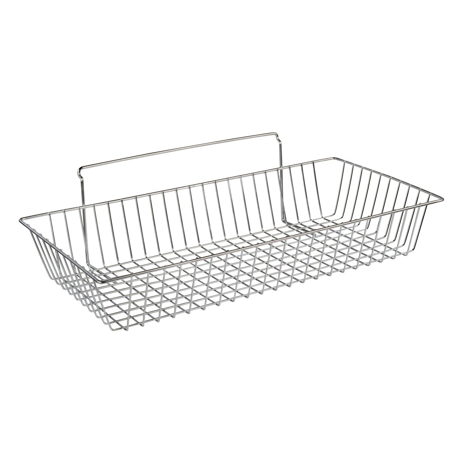 NeXtrac Wire Slatwall Basket for Merchandising, 24''L x 12''W x 4''D, Chrome