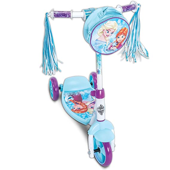 Disney Frozen Girls 3-Wheel Preschool Scooter, by Huffy