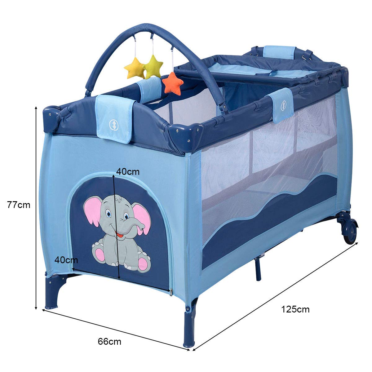 Toddler Baby Crib Playard Pack Playpen Bassinet Travel Infant Bed Portable Foldable by WealthyPlaza (Image #6)