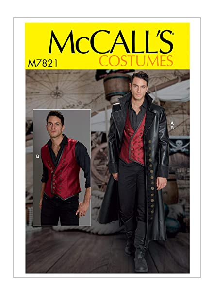 Amazon Mccalls M7821 Mww Sewing Pattern Mens Wide Lapel Long