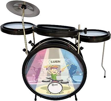 Bateria Infantil Luen Smart Drum Preta 44007Pt