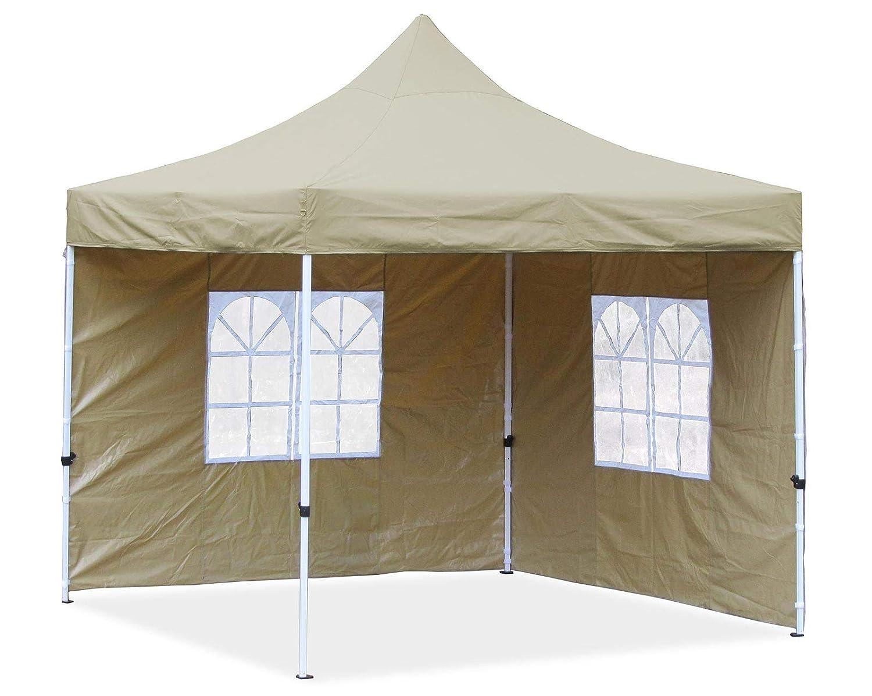 Premium Premium Premium Garten Falt Pavillion Party Zelt mit 2 Seitenwänden 2 Fenster 3x3m Beige 9ff6a1