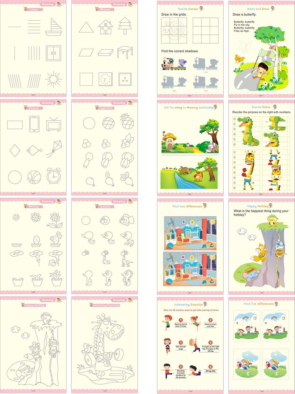 Calligraphy Copybook Magic Practice Copy Book for Toddlers Ages 3 Magic Reusable Copybook