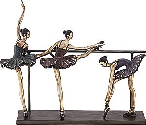 Dahlia Studios Stretching Ballerinas 11 3/4