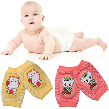 Baby Crawl Non-slip Knee Support Safety Knee/elbow Pad Soft Breathable 2 Pair Other Baby Safety & Health Baby Safety & Health
