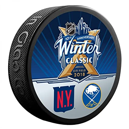 1f6d3b0b1f5 Amazon.com  Sherwood 2018 Winter Classic New York Rangers vs. Buffalo  Sabres Dueling Souvenir Puck  Sports Collectibles