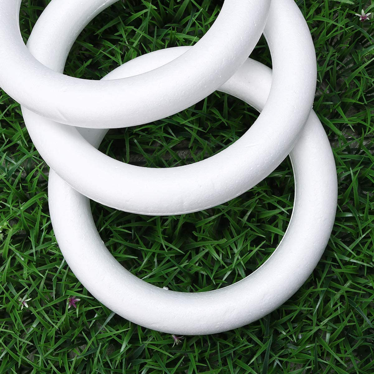 White SUPVOX Craft Foam Wreath Polystyrene Foam Rings for DIY Art Crafts Floral Projects Christmas Wedding Home Decorations 3pcs