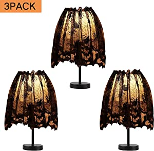 anroog 3 Pack Halloween Lamp Shade Cover Indoor Decorations,Black Lace Ribbon Spider Web Lampshades Cover Topper Scarf for Festive Party Indoor Decor Supplies,Large 20 X 60 Inch