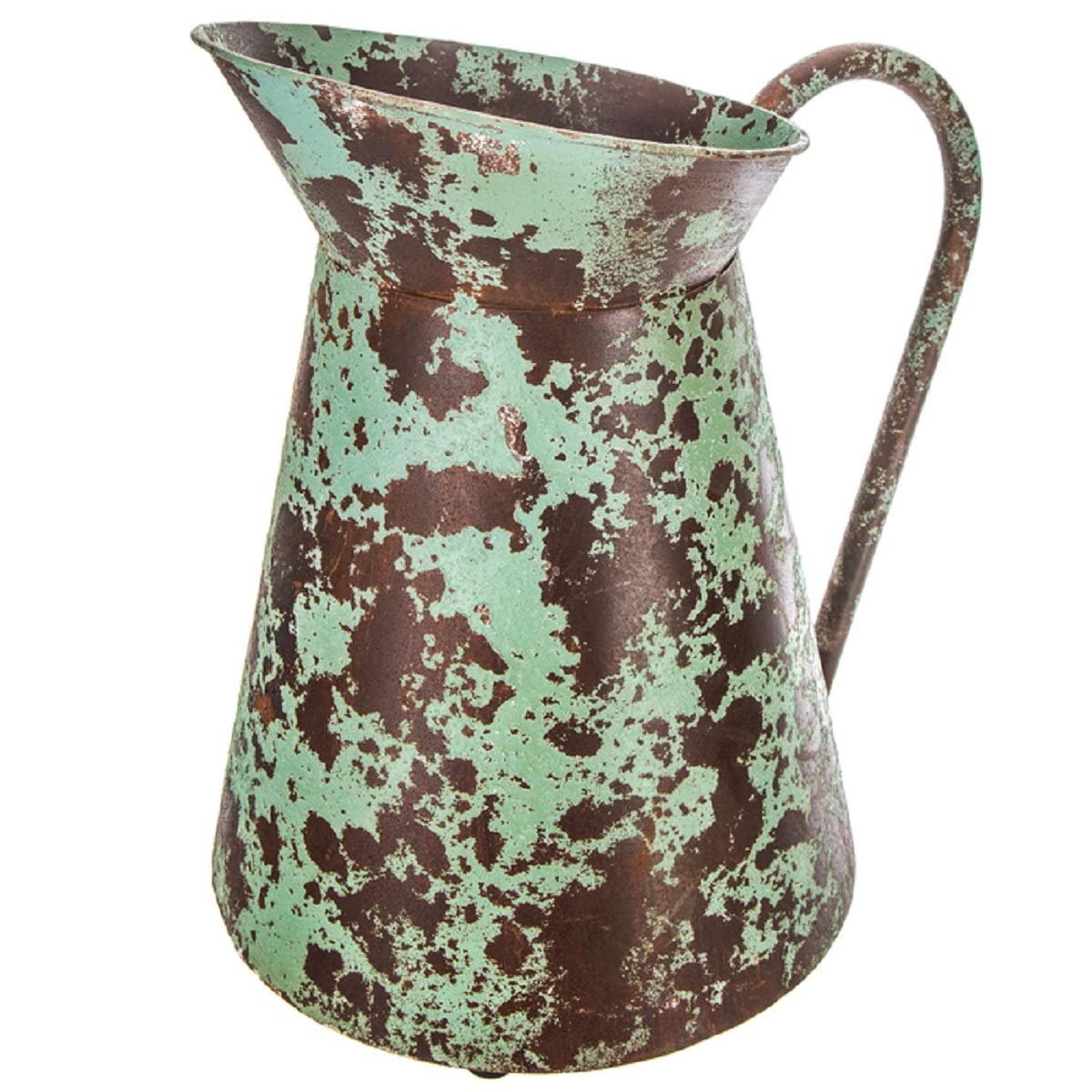 Distressed Rustic Turquoise Pitcher Green Chipped Paint Watering Can Farmhouse Country Vase Farmhouse Country Charm Decor Barn Wedding Decor Vase Pam/'s Glam