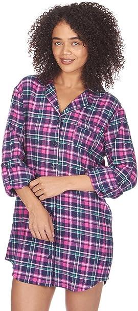 Forever Dreaming camisón de Franela térmica cepillada para Mujer