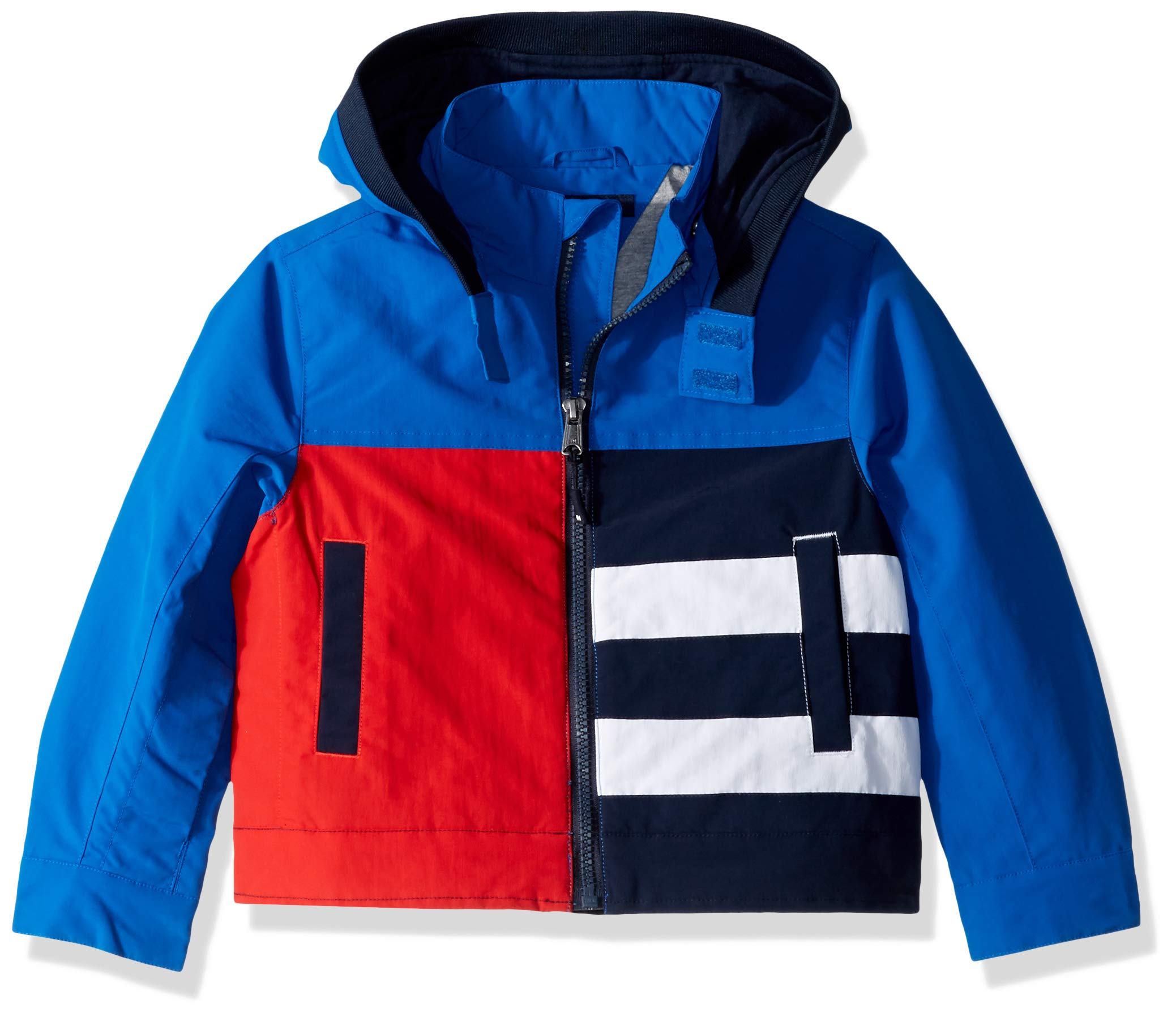 Tommy Hilfiger Boys' Adaptive Seated Fit Jacket with Velcro Brand Closure, Turkish Sea S