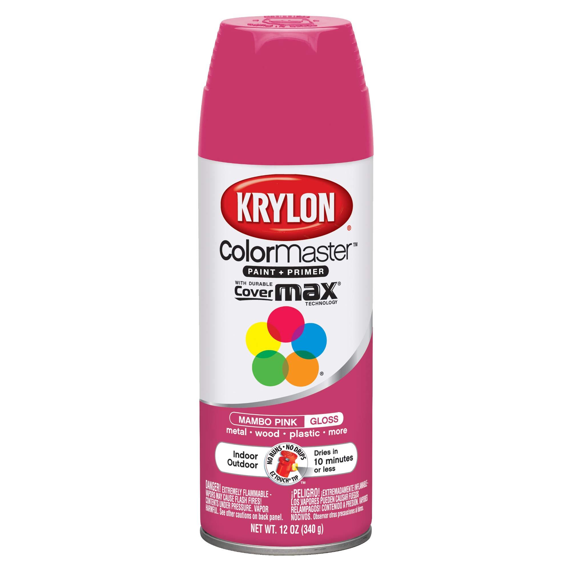 Krylon K05357107 ColorMaster Primer Aerosol Paints Mambo Pink