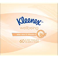 KLEENEX Facial Special Care Facial Tissues Aloe Vera and Vitamin E Cube, 0.15kg, Pack of 60