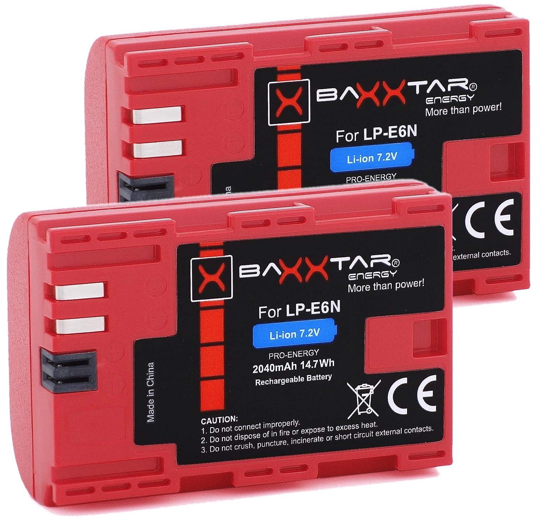 Baxxtar Pro batería para Canon LP-E6N (2040mAh auténtico): Amazon ...