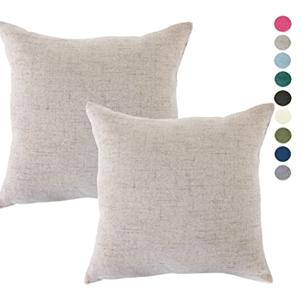 Amazon CHANODUG Linen Pillow Covers 40 X 40 Inch Sets Of 40 Interesting 20 X 20 Inch Pillow Covers