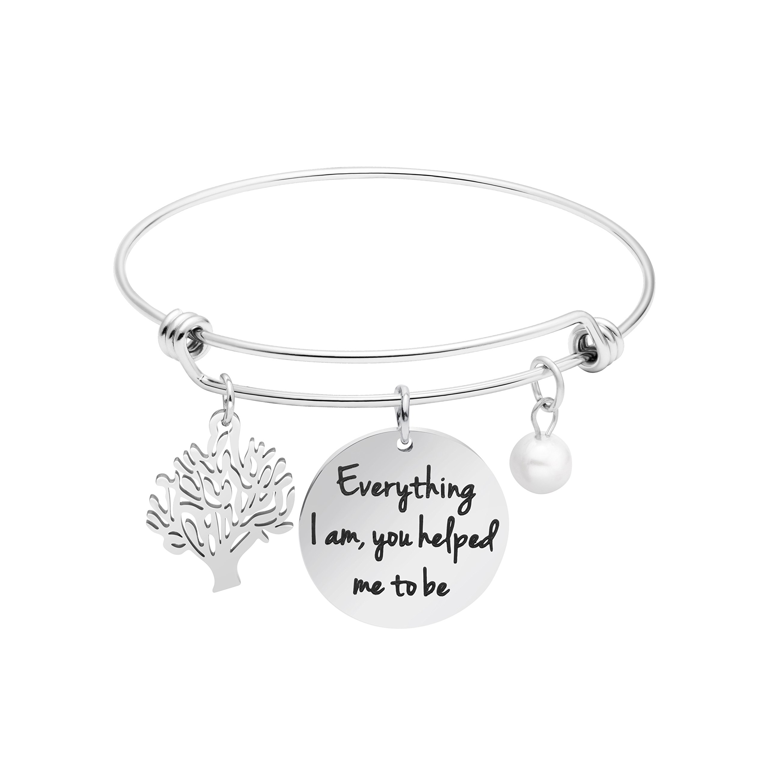 Awegift Expandable Bracelet Tree Life Wedding Party Jewelry Gifts Everything I am, you helped me to be