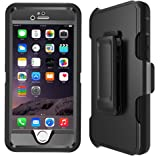 iPhone 5S Case, Heavy Duty Holster case, Hybrid Dual Layer Combo Armor Defender Protective Case With Kickstand + Belt Clip Holster For iPhone 5/5S/SE,Black