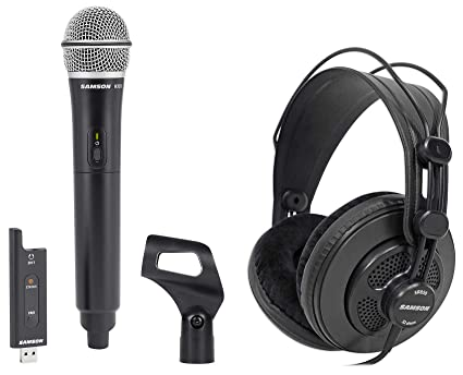 8731993350b Image Unavailable. Image not available for. Color: Samson Gaming Streaming  Twitch Kit w/XPD2 Wireless Mic Clip+SR850 Headphones