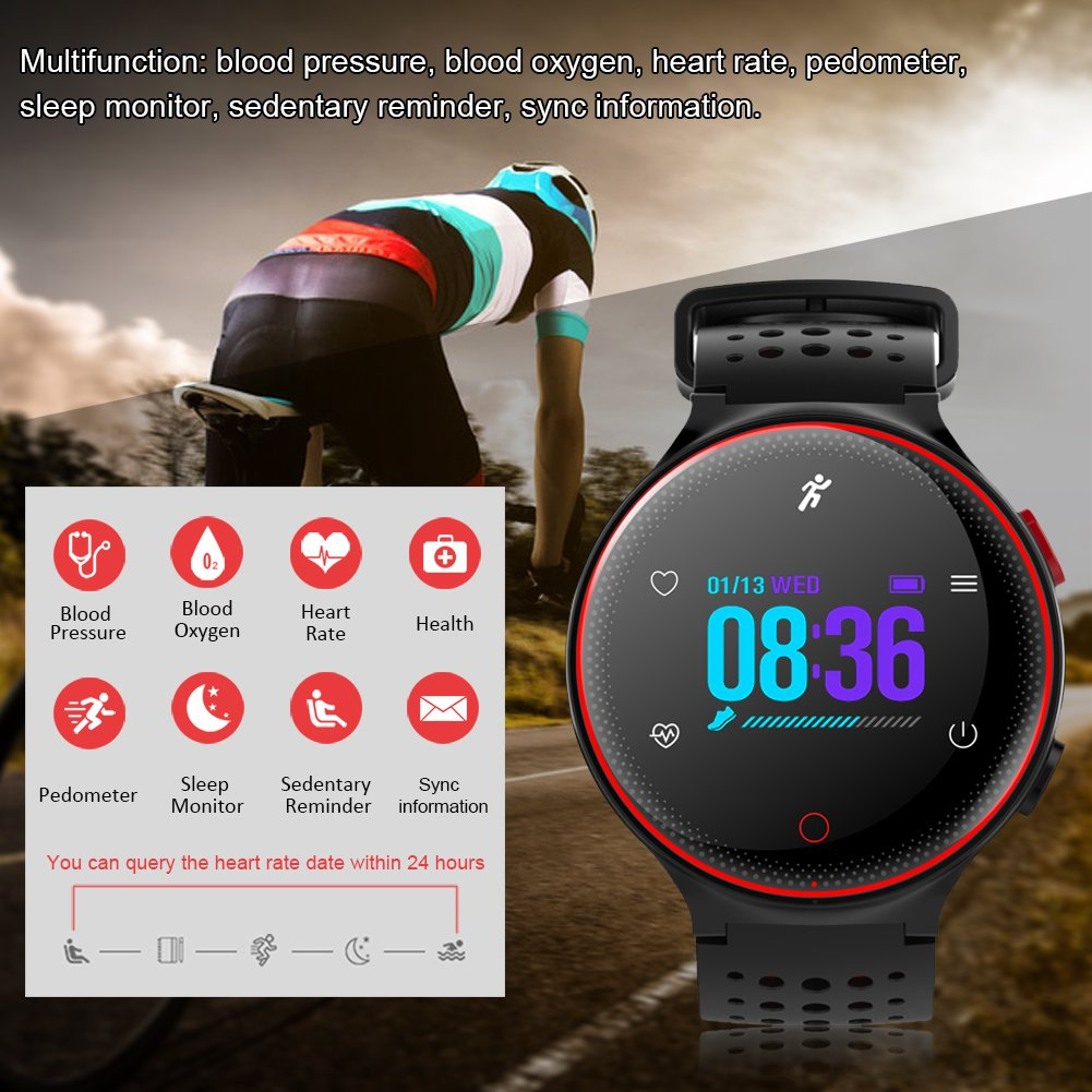 Pasaki - Reloj inteligente con Bluetooth, pantalla de color de 1 ...