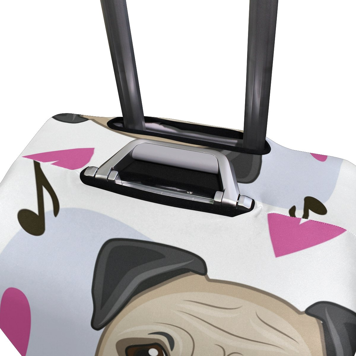 Cute Dog Puppy Music Hearts Love Suitcase Luggage Cover Protector for Travel Kids Men Women by ALAZA (Image #4)